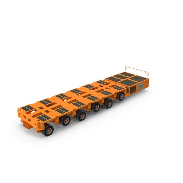 6 Axle Lines Modular Transporter Goldhofer Orange