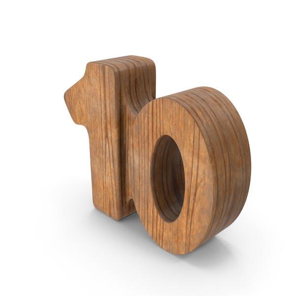 10 Holz-Nummer