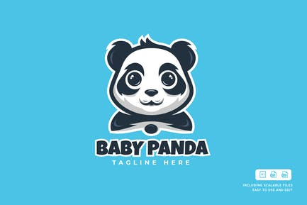 Baby Panda - Logo Design Template