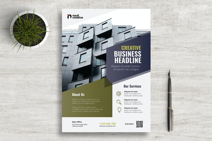 Thumbnail for Corporate Business Flyer PSD and Vector Vol.3
