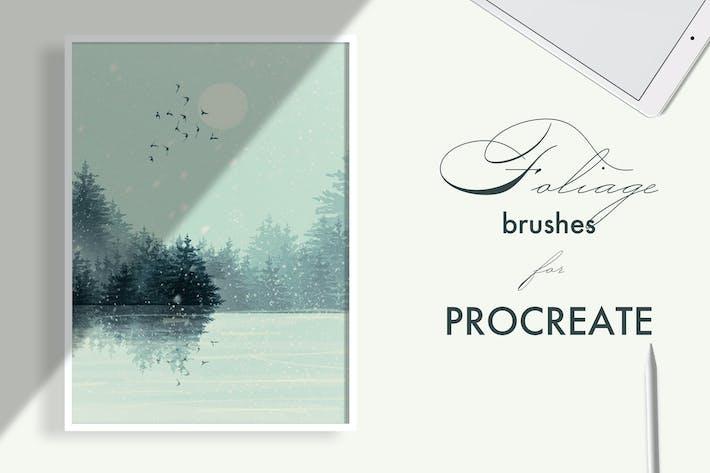 Thumbnail for Foliage brushes for Procreate