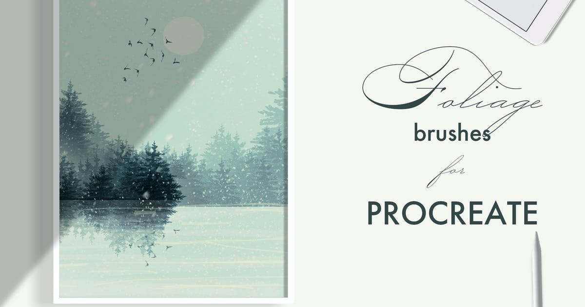 Download Foliage brushes for Procreate by jenteva