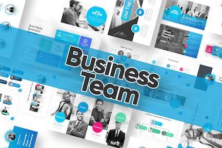 Шаблон Powerpoint для бизнес-группы