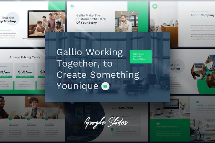 Thumbnail for Galio - Цифровой маркетинг Google Слайды Шаблон