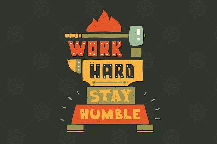 Thumbnail for Modern flat design hipster illustration with quote