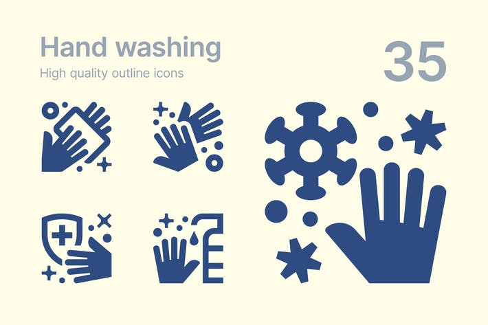 Thumbnail for Hand Washing Icons