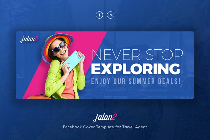 Jalan2 Travel Agent Facebook Cover Psd Template By