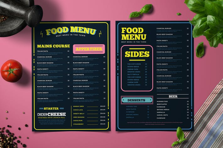 Thumbnail for Retro Food Menu
