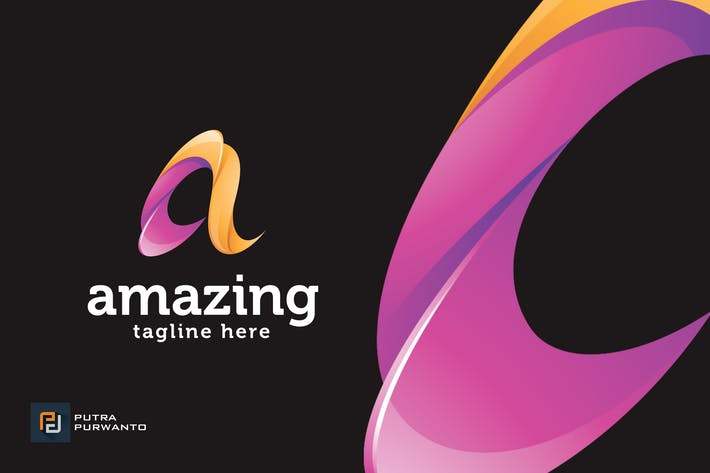 Thumbnail for Amazing / Letter A - Logo Template