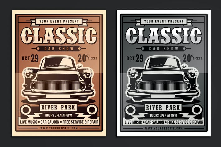 Thumbnail for Classic Car Show Flyer