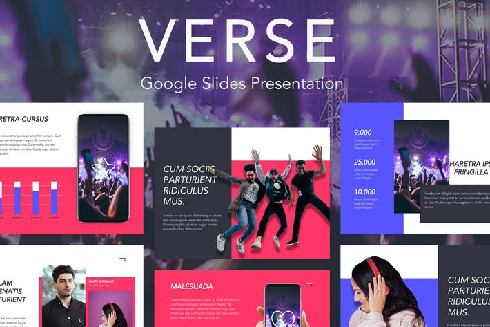 Thumbnail for Verse Google Slides Template