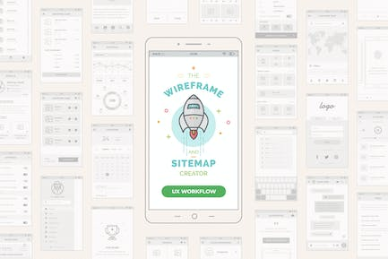 UX Workflow - Mobile Wireframe and Sitemap Creator