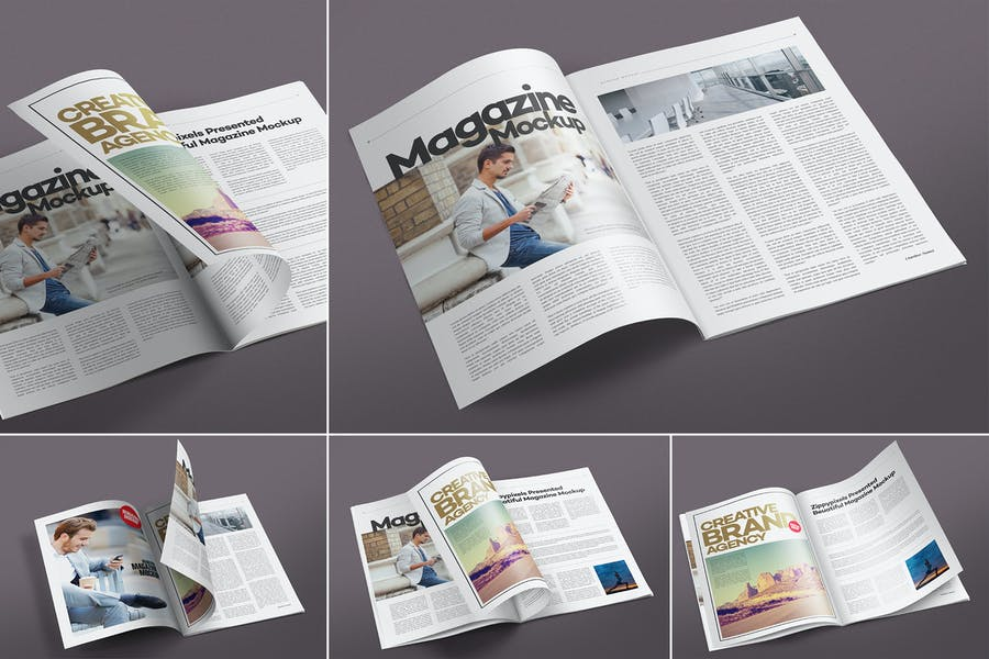 Open Magazine Mockups