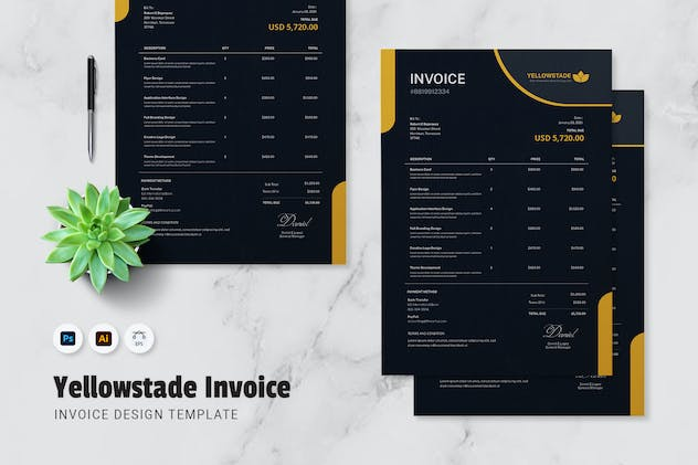 Yellowstade Invoice