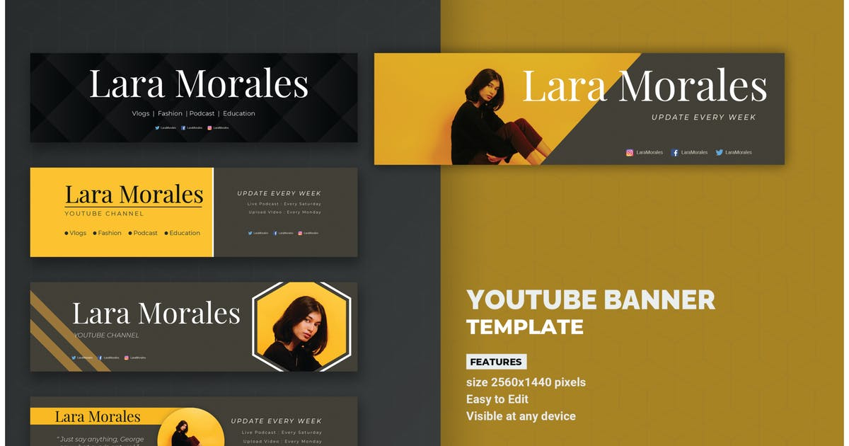 Download Fashion Youtube Banner Template by inspirasign