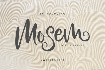 Mosem | Swirl Script Font