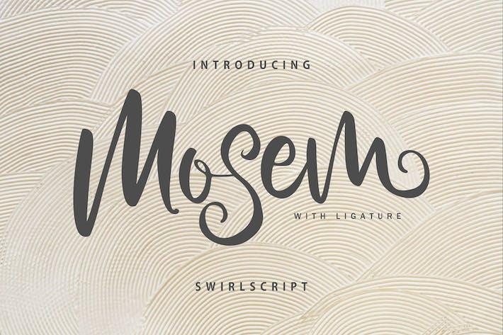 Thumbnail for Mosem | Swirl Script Font