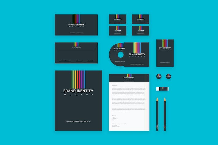 Thumbnail for Branding Identity Set: Colored Lines for Photoshop