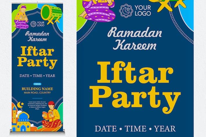 Ramadan Kareem Roll Up Banner #03