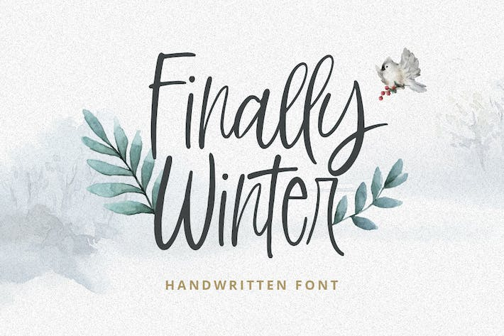 Thumbnail for Finally Winter - police manuscrite