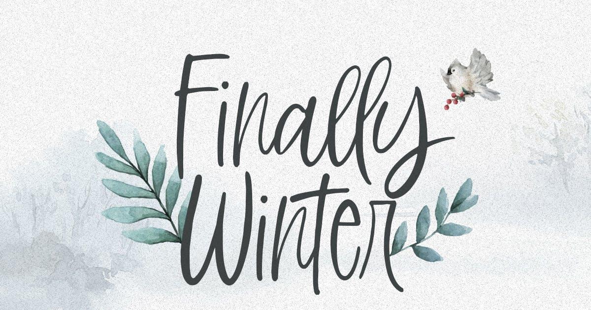 Download Finally Winter - handwritten font by letterhend