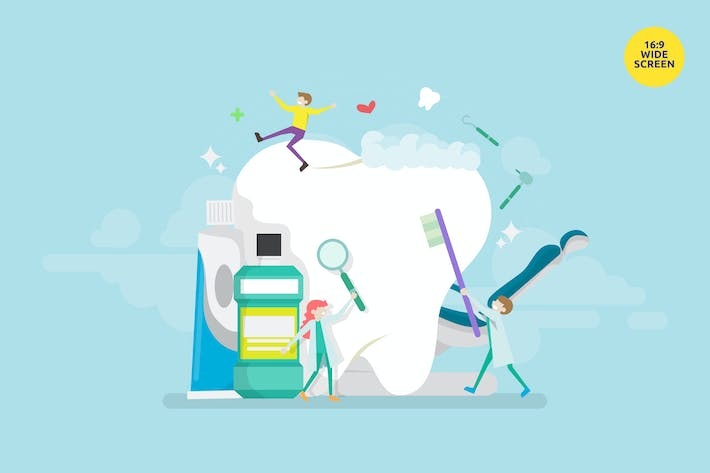 Thumbnail for Dental Cleaness Treatment Vector Illustration