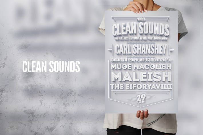 Cover Image For Clean Sounds Flyer Poster