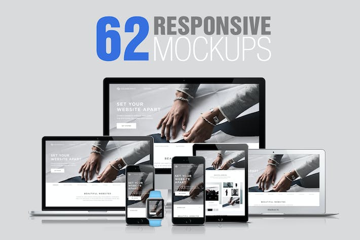 Thumbnail for 62 Responsive Mockups