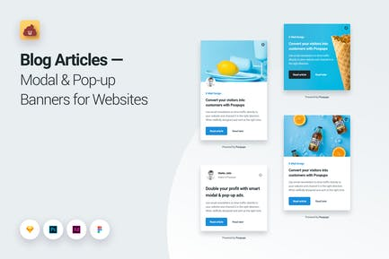Blog Articles Modal & Pop-up Banners for Websites