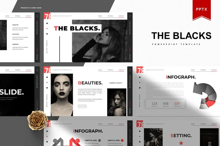 Thumbnail for The Blacks | Powerpoint Template