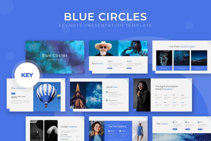 Thumbnail for Blue Circle - Keynote Template