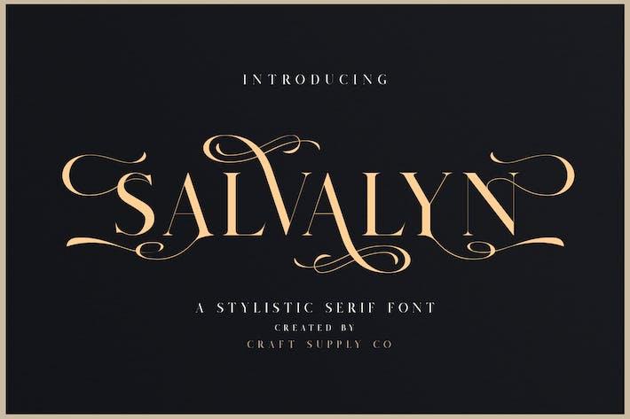 Thumbnail for Salvalyn - Stylistic Serif Font