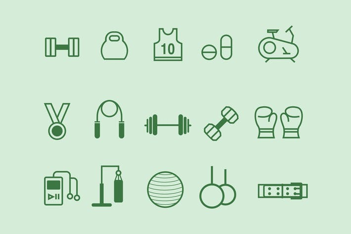 Thumbnail for 15 Gym Icons