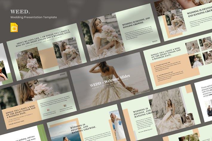 Thumbnail for WEDD - Wedding Presentation Google Slide Template