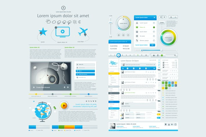 Thumbnail for infographics element with Vector GUI Template