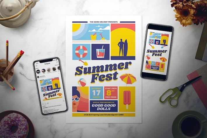 Thumbnail for Summer Fest Flyer Set