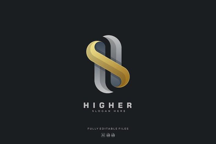 Thumbnail for Bold Letter H Luxury Logo