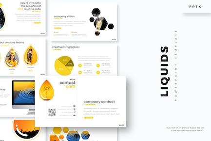 liquids - Powerpoint Template
