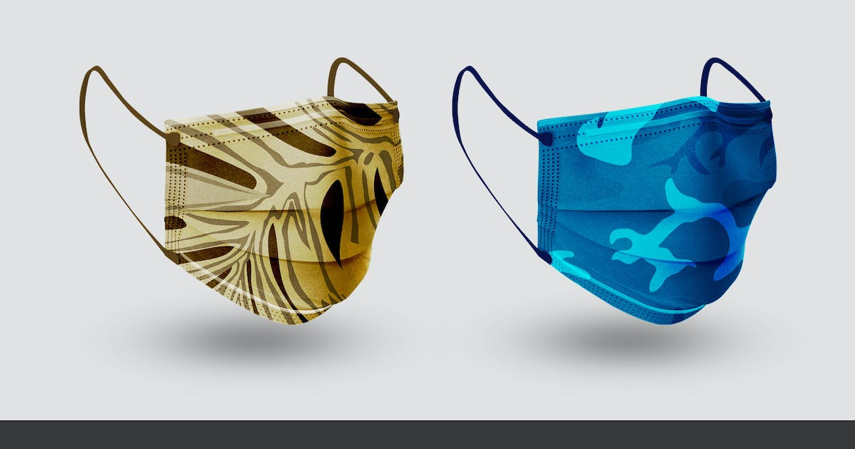 Download Face Mask Mockup by VictorThemes