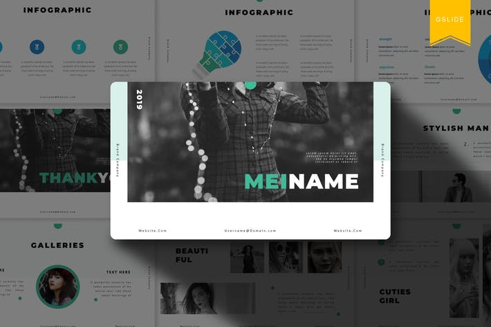 Thumbnail for Meiname |  Google Slides Template