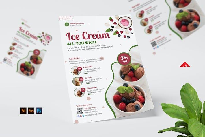Ice Cream Store Menu Flyer