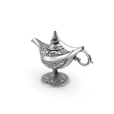 Antik Silber Magie Lampe