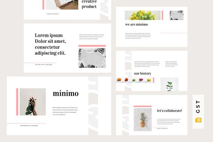 Thumbnail for MINIMO - Minimalist Google Slides Template