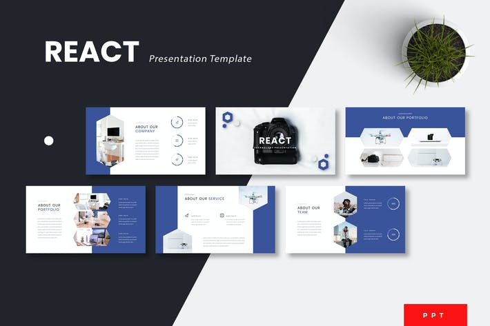 Thumbnail for React - Technology Powerpoint Template