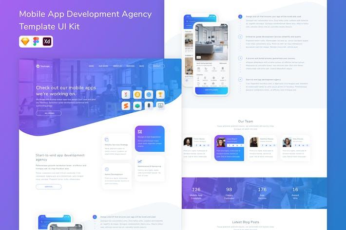 Thumbnail for Mobile App Development Agency Template UI Kit
