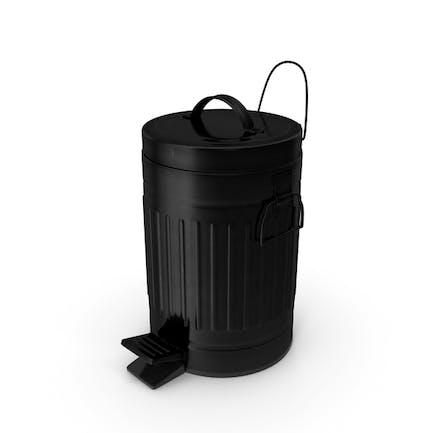 Pedal Trash Bin Black