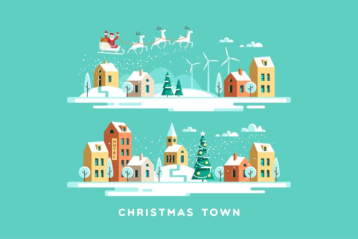 Thumbnail for Christmas Town Urban Winter Landscape