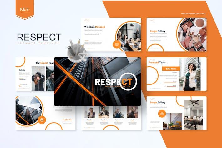 Thumbnail for Respect - Шаблон ключевых заметок бизнеса