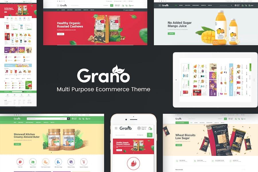 Grano - Органические и пищевые отзывчивые Prestashop Тема