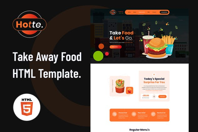 Hotte - Take Away Food HTML5 Template